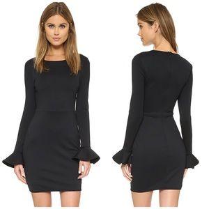 Black Halo Hampton Flared Cuff Little Black Dress